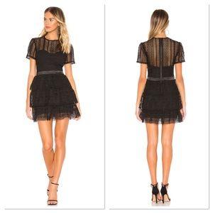 Bardot Black Ava Lace Mini Dress Sz 10